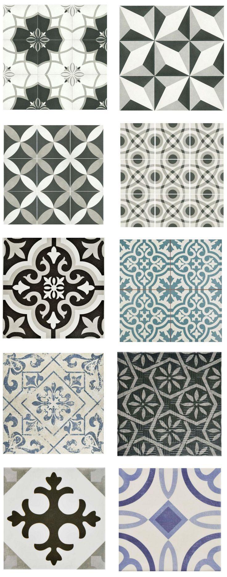 """Cement-Look-Tile-Home-Depot (""""Porzellan- und Keramikfliesen, die wie authentische Zementfliesen aussehen, aber für weniger Geld, als Sie für das Original bezahlen würden"""""""