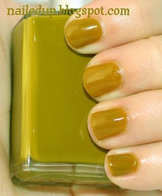 Chartreuse nail polish from StrangeBeautiful Color Volume 4