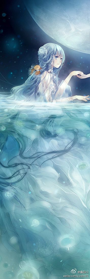I wish to take you to the moon, to land my love flows from! I am a creature of the seas the moon guides me! - AnimeChix
