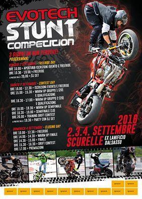 New edition Evotech Stunt Competition Stunt show Scurelle-Italy 2 3 4 September 2016 #stunt #stunter #stuntworld #evotech #drift #motorcycleshow #valsuganaeventi