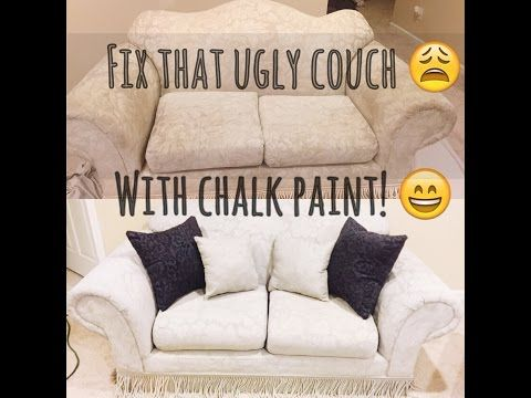 How to Paint Upholstery, keep it soft, and velvety! No cracking or hard texture! - YouTube