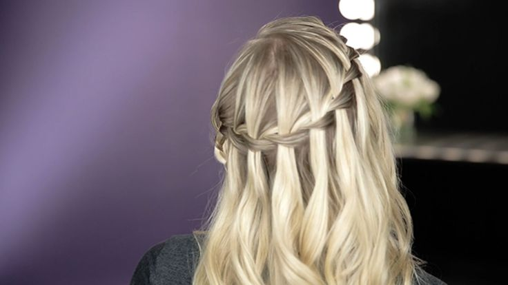 How to Create a Waterfall Braid with Sarah Potempa: Celebrity hairstylist Sarah Potempa (Instagram: @sarahpotempa) breaks down the steps for creating a gorgeous waterfall braid.