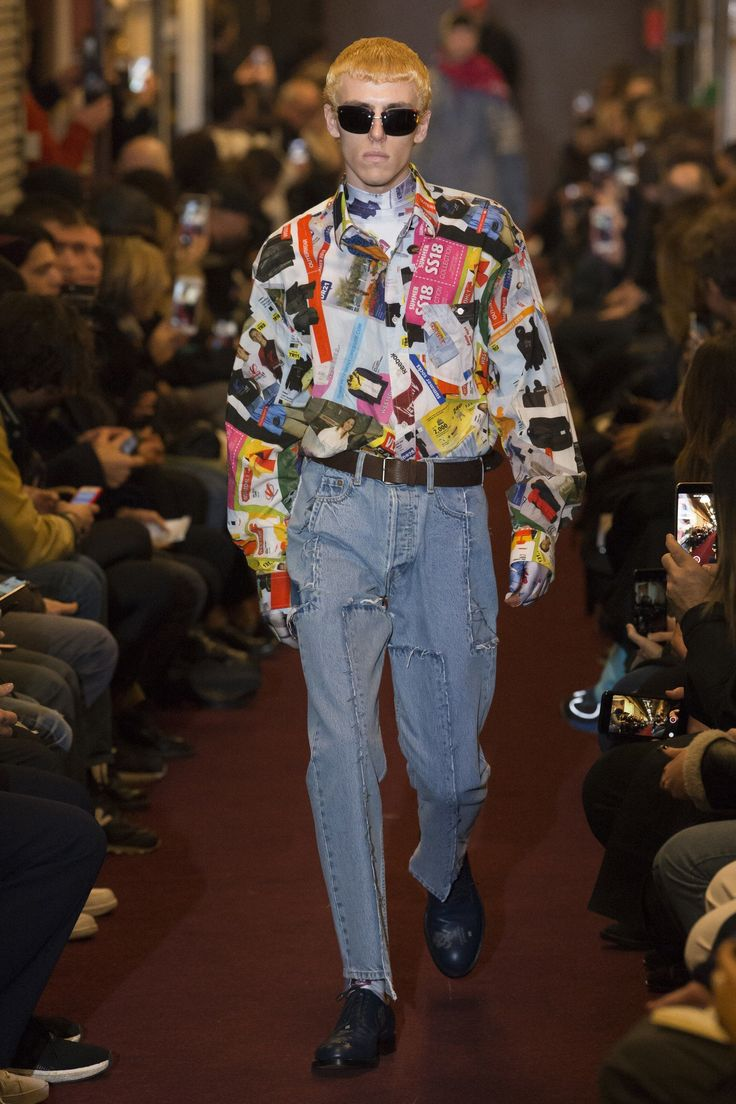 The complete Vetements Fall 2018 Menswear fashion show now on Vogue Runway. #MensFashionMenswear