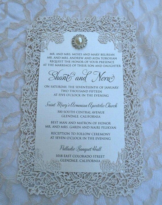 Wedding Invitations Masquerade Bridal Stationery