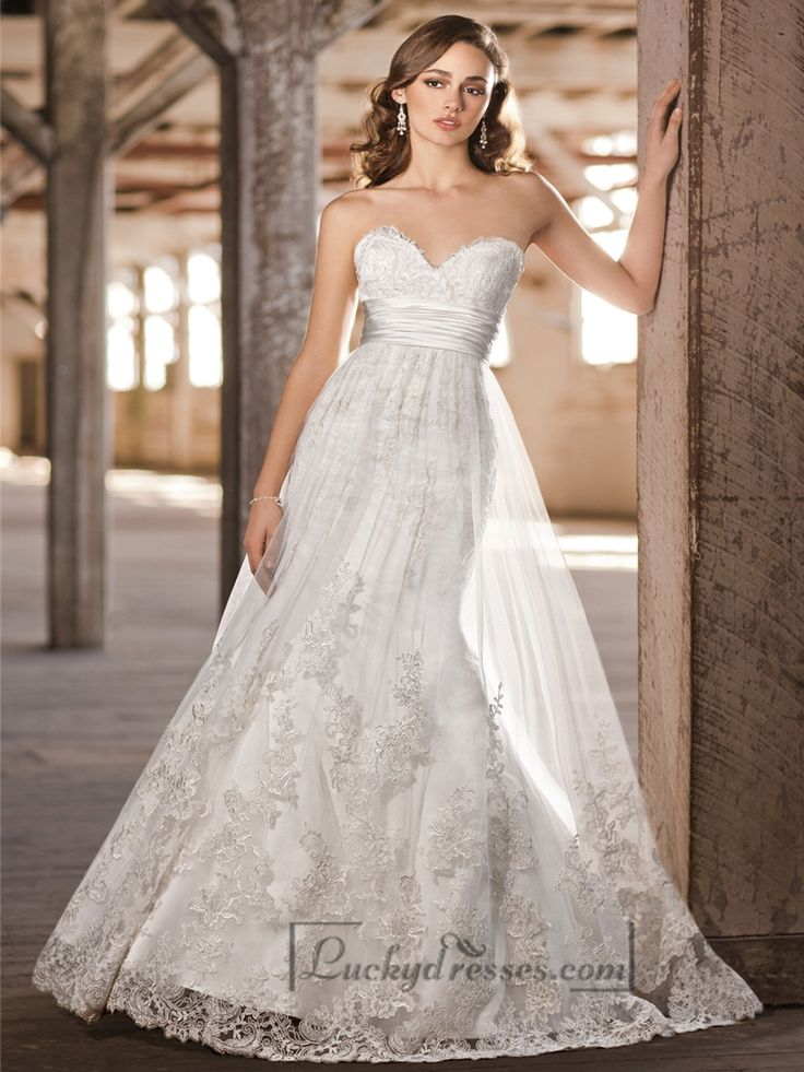 1000 ideas about empire wedding dresses on pinterest for Empire lace wedding dress