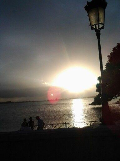 Bella puesta del sol