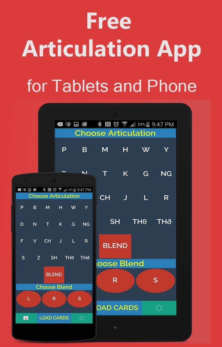 Looking for free speech therapy ideas. Here is one for android phones and tablet. Articulation word list free for phone and tablets.