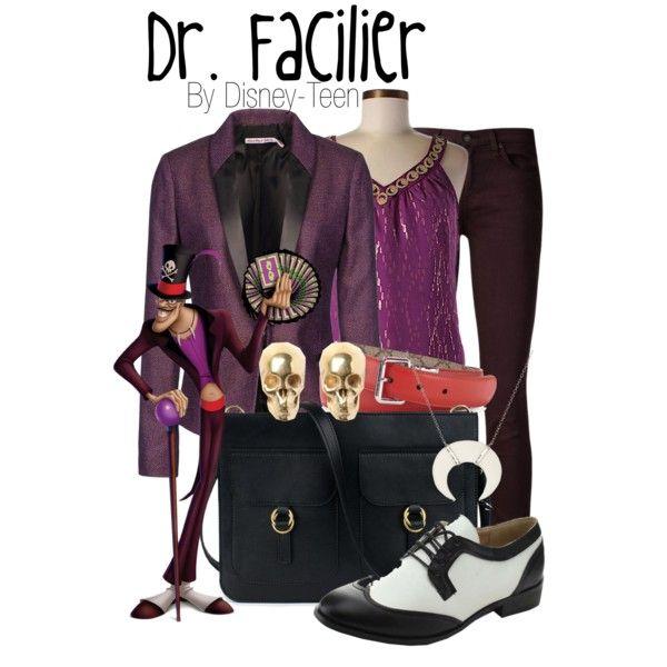 Dr. Facilier by disney-teen on Polyvore featuring Trina Turk, See by Chloé, rag & bone/JEAN, miim, LeiVanKash, Chan Luu and Gucci