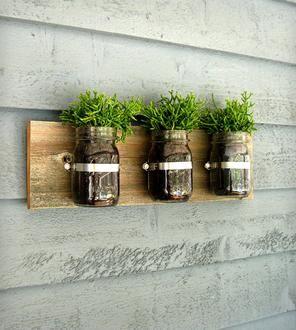 Mason Jar Wall Organizer – 3 Jars