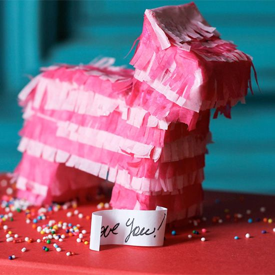 Make your own Mini piñata for any special occasion! Easy and with a free donkey template.