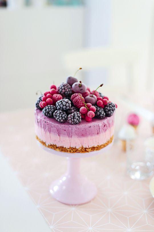 Berry ice-cream cake ✿⊱╮
