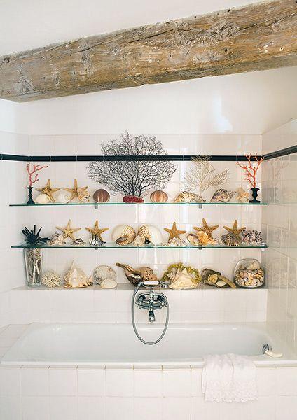 tiled coastal style bathroom in an Amsterdam Factory restoration