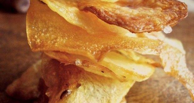 τσιπς πατατάκια στο φούρνο - Pandespani.com