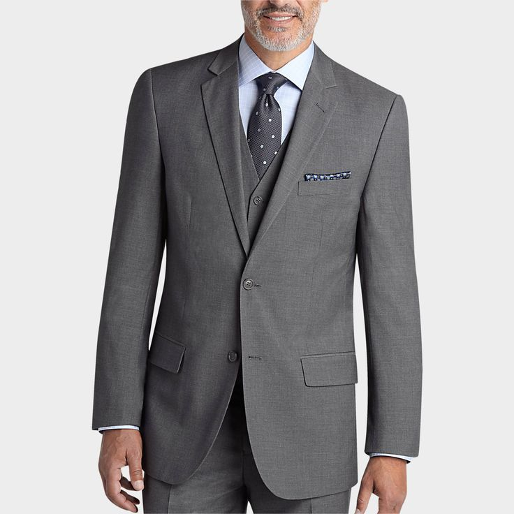 Pronto Uomo Gray Vested Modern Fit Suit - Modern Fit | Men's Wearhouse. $250