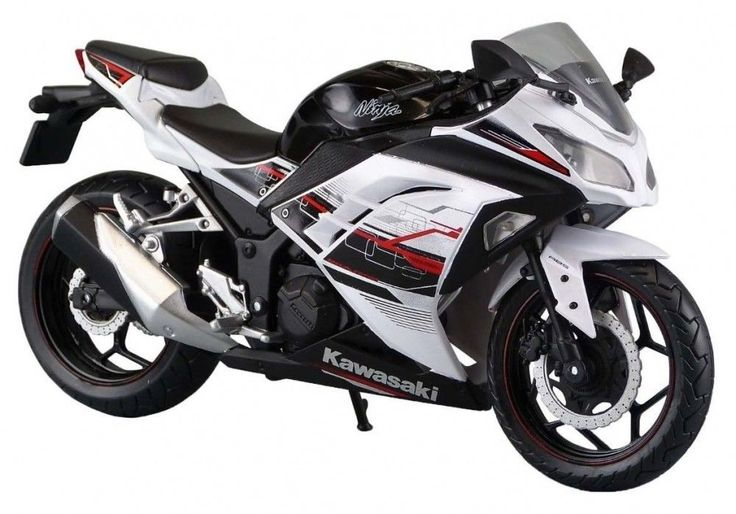 Skynet Aoshima Kawasaki Ninja250 White SE 1/12 Scale Motorcycle Diecast #Skynet #Kawasaki