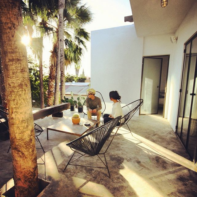 DRIFT SAN JOSE in Baja Mexico. Acapulco Chairs, Patio, Palms, Steel doors - 17 Best Images About Furniture On Pinterest Mid Century