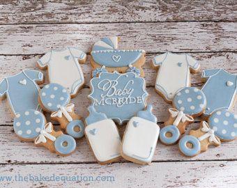 Baby Shower Sugar Cookies-One Dozen by MrsCookieBakes on Etsy