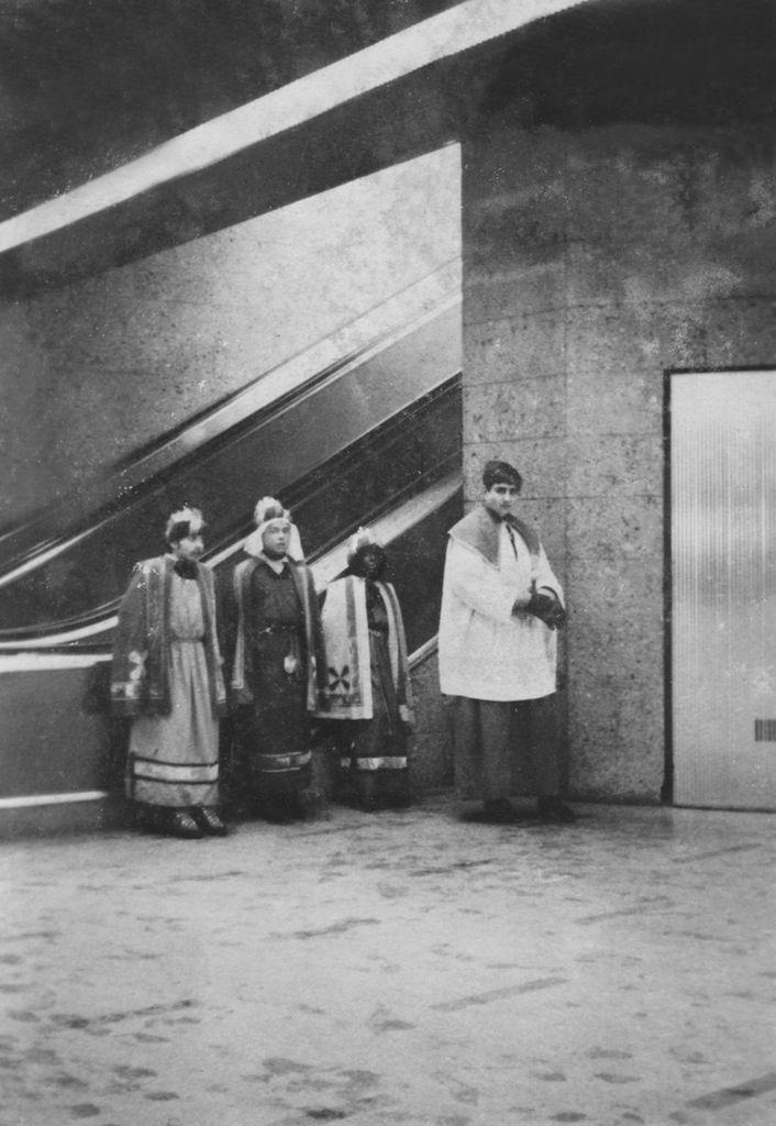 Die heiligen drei Könige in der Unterführung am Schottentor 1969 © anonym / Sammlung Thomas Zeiziger