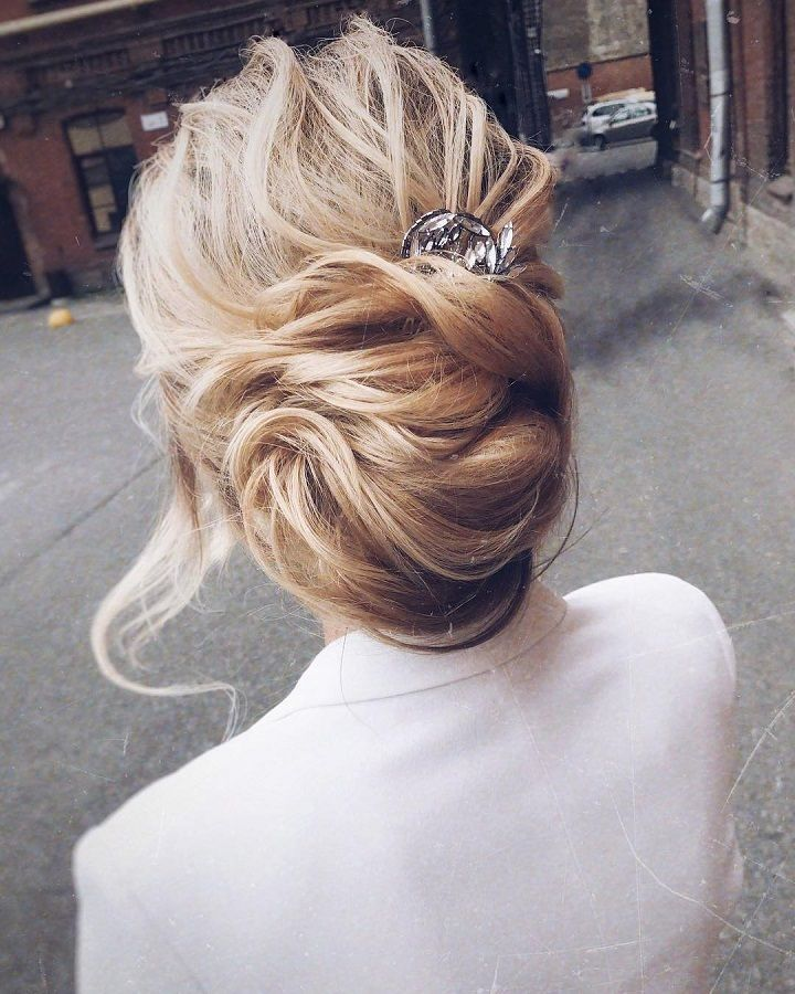 gorgeous hairstyle ideas | Bridal updo hairstyle | messy updo