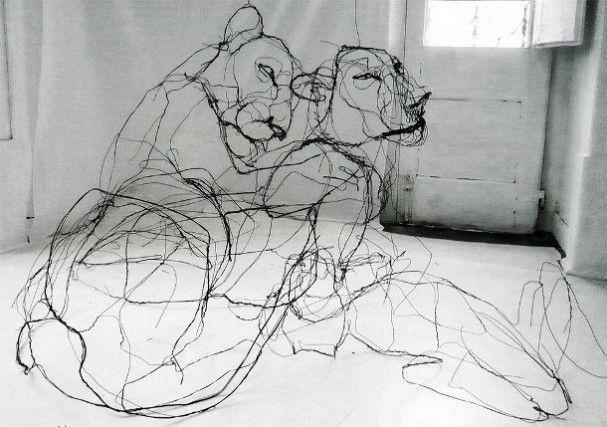 dieren-draad-sculpturen, Kunstenaar David Oliveira
