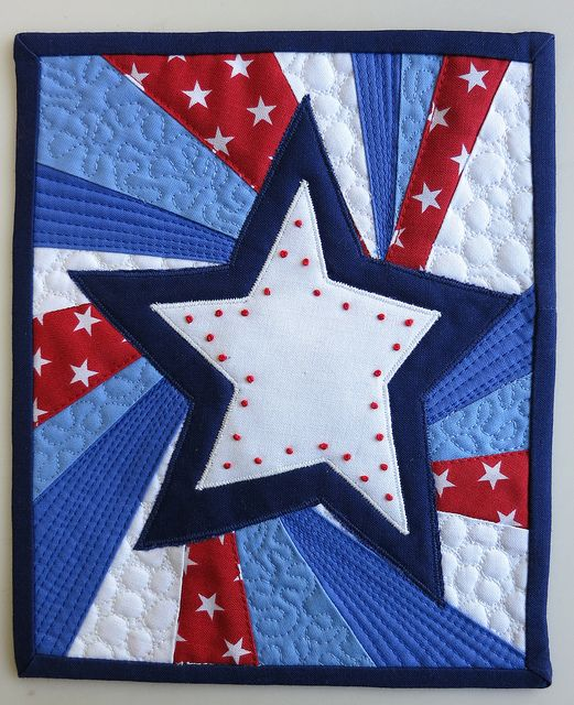 4th of july fabric bunting