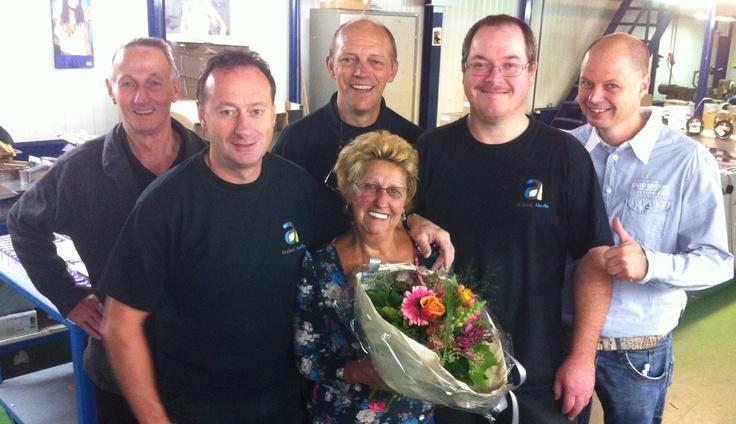 5 oktober 2012 – Vandaag vieren wij het 20-jarig dienstverband van onze collega …