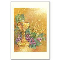So many uses for holy cards from Printery House - how about personalizing them with text and using as mailing enclosures? Chalice, wheat and grapes design perfect for boy or girls first communion! printeryhouse.org, #printeryhouse