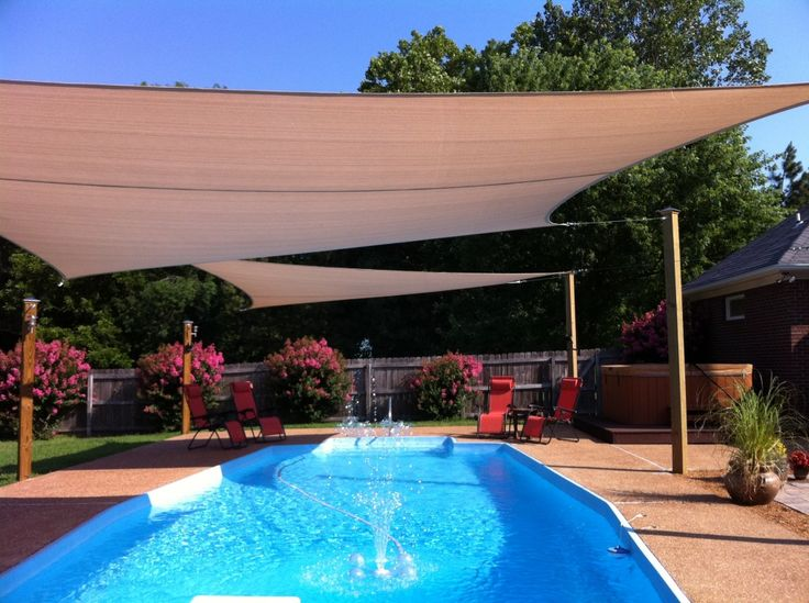 Canu0027t Wait Until We Open The Pool And My Outdoor Sun Shade Sails Are