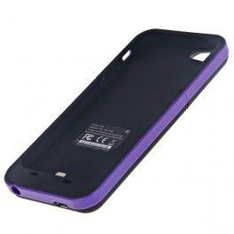 Coque Batterie rechargeable coloris 2000mAh pour iPhone 5, Violet