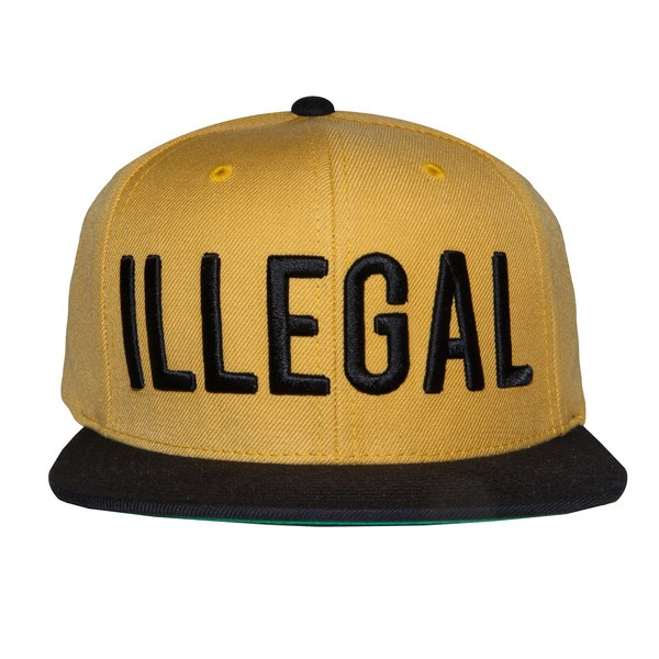 "Fool's Gold Records — Black Scale x Fool's Gold ""Illegal"" Snapback - Wolverine Yellow / Black"