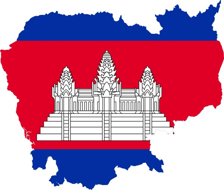 Flag map of Cambodia  캄보디아