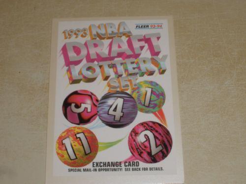 1993-94-Fleer-NBA-Draft-Lottery-Set-Exchange-Card