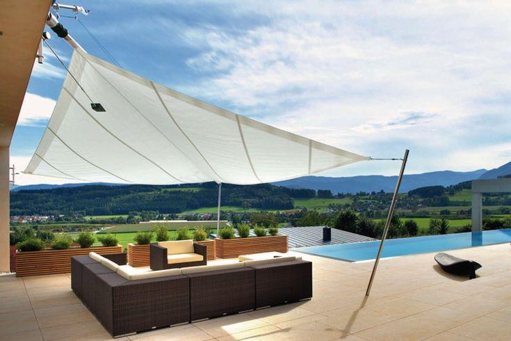 highlight sonnensegel wei terrasse holz 21 tensile. Black Bedroom Furniture Sets. Home Design Ideas