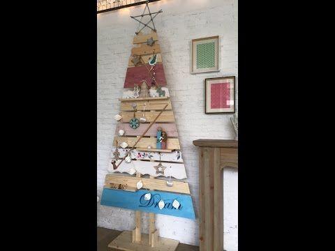 Χριστουγεννιάτικο ξύλινο δέντρο - YouTube