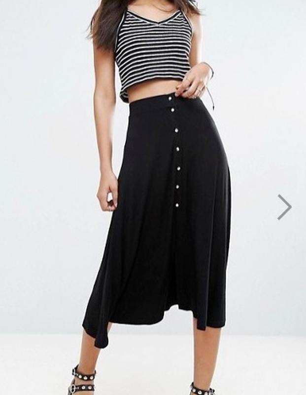 40р. длинная расклешенная юбка на кнопках asos ASOS за 380 грн.