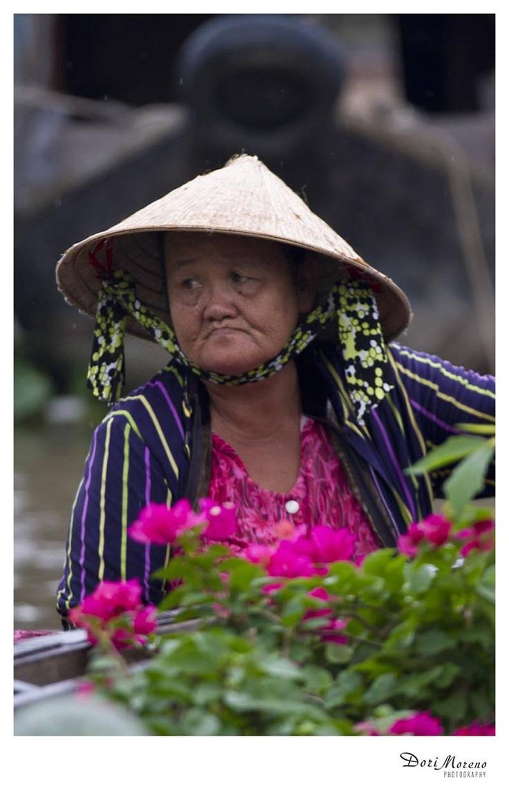 Floating markets, Mekong Delta, Vietnam  www.dorimoreno.com