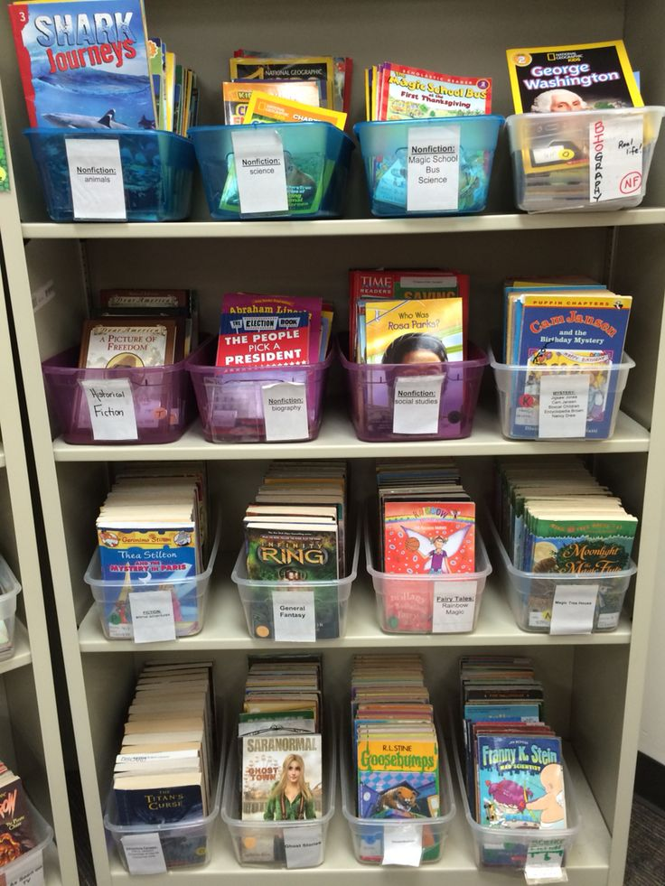 Close up of my literacy library