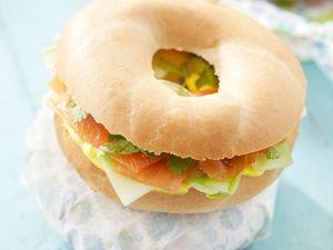 Découvrez la recette Bagels au concombre et au saumon sur cuisineactuelle.fr.