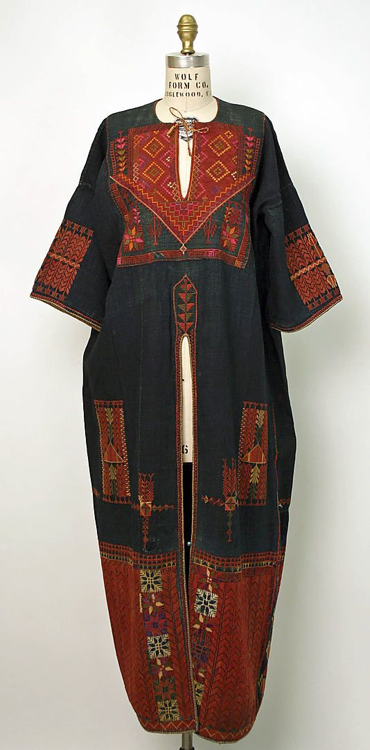 Ensemble Date: early 20th century Culture: Middle Eastern (Palestinian peoples) Medium: linen, cotton