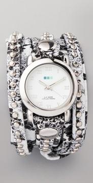 La Mer wrap watch in snake pattern