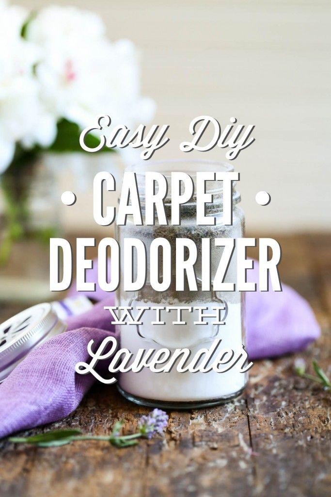 Easy DIY Carpet Deodorizer with Lavender - Live Simply