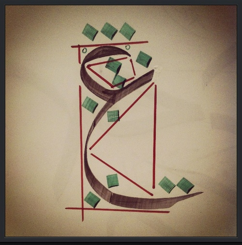The letter ع - Ain