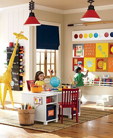 Art playroom pottery barn kids pb kids pinterest for Pottery barn kids room ideas