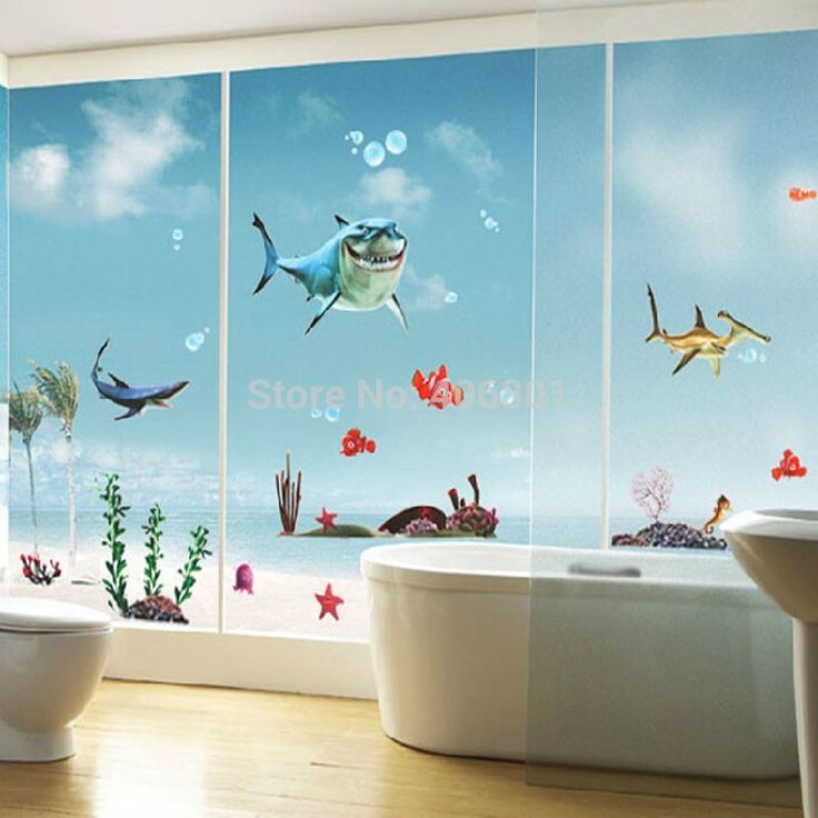 Extra Large Finding Nemo Wall Stickers For Bathroom