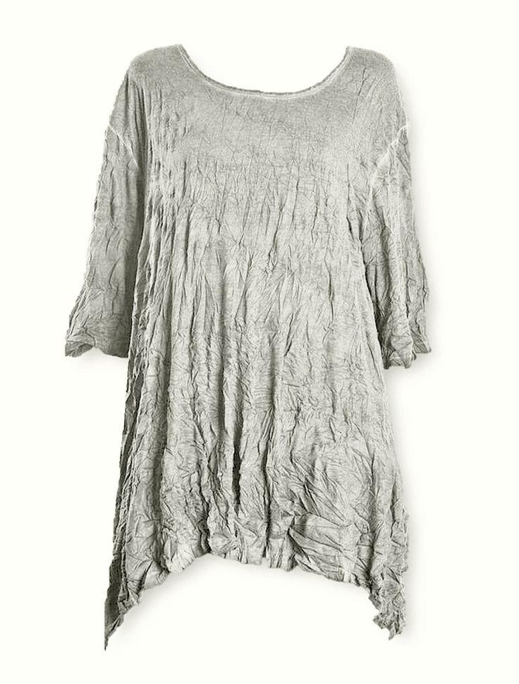 Barbara Speer Shirt Tunika in leinen old look Lagenlook Mode XL-XXL bei  www.modeolymp.lafeo.de