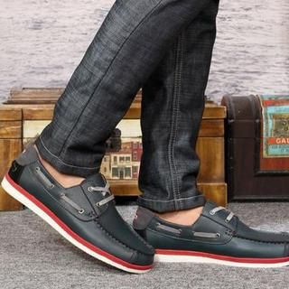 MARTUCCI Dark Blue Deck Shoes men $54.90 | Looking For Fashions