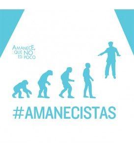 """Camiseta Amanecistas Chico Azul """"Amanece, que no es poco"""""""