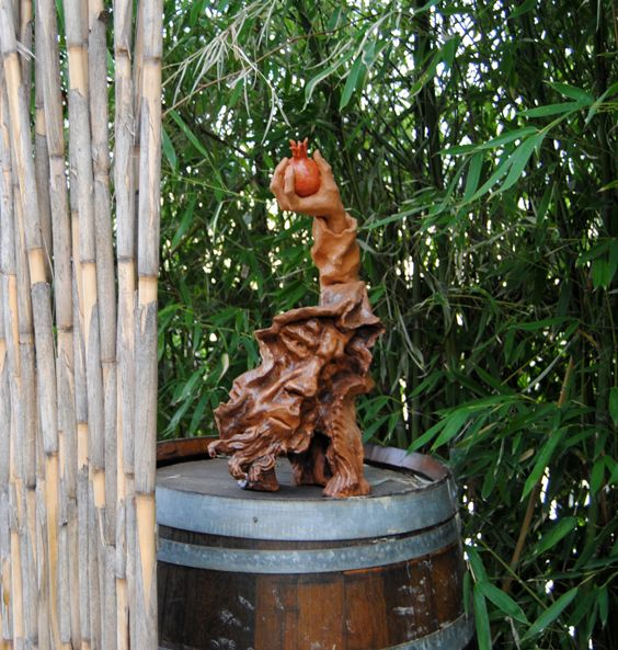 The fruit of Persephone, terracotta by Mario Zanoni (Cascina dei Frutti - Mango CN - Italy)