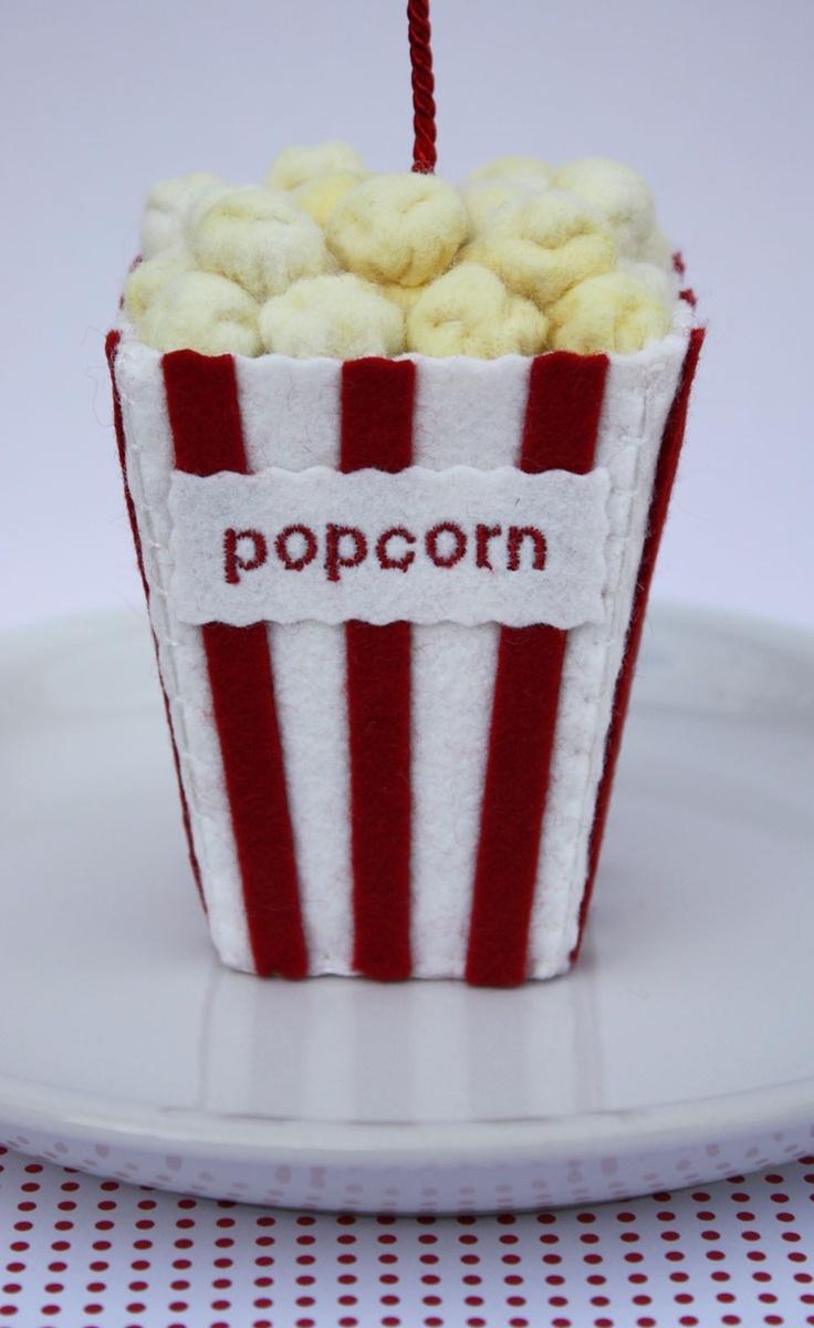 *NEEDLE FELTED ART ~ popcorn van vilt