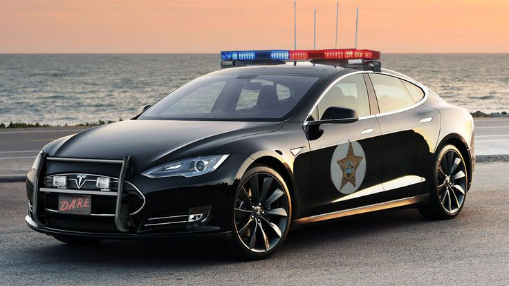 TESLA Police Cars. Ludicrously Wealthy Town Atherton is a town in California so wealthy that even the cops are getting Teslas.